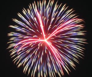 firework burst and firework shell burst image