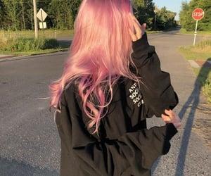 girl, hair, and hoodie image
