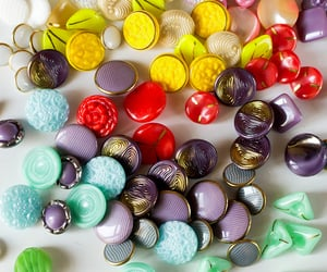 glass buttons, beautiful olf things, and multicolor image