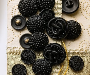 rustic lace, antique lace, and black image