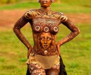 2019, equatorial guinea, and bodypainting festival image