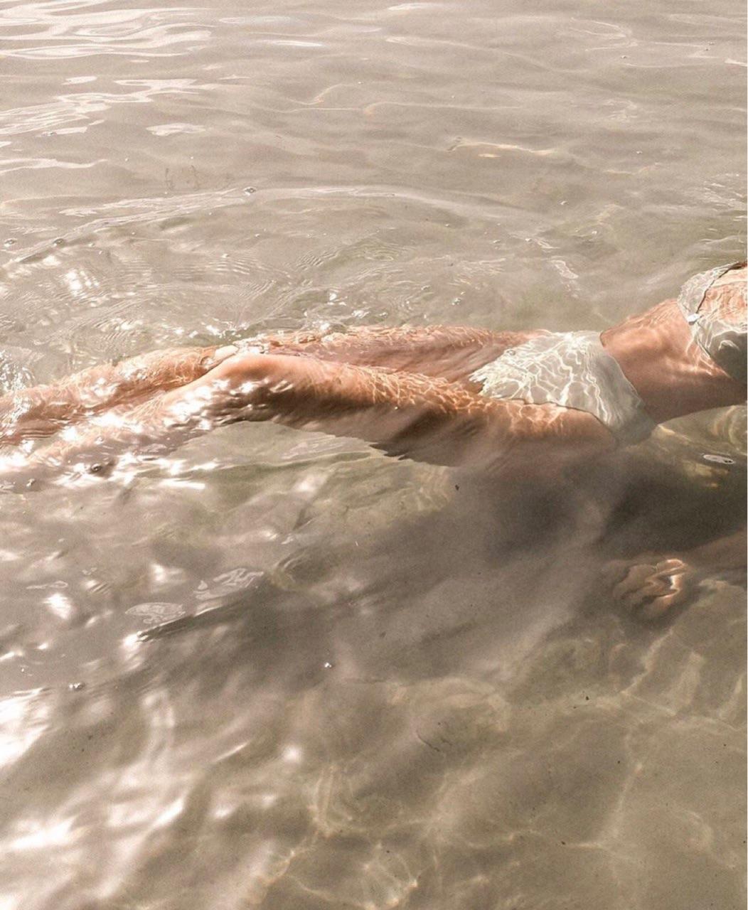 girl, sea, and sand image