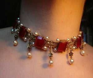 aesthetic, jewelry, and red image