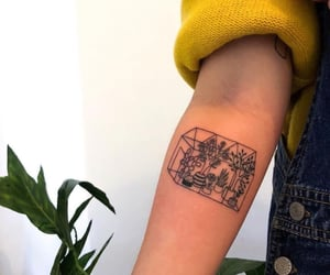 plants, tattoo, and art image
