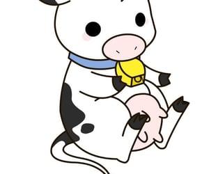 cow, kawaii, and adorable animals image