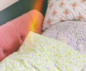 bed, decor, and cosy image