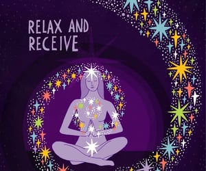meditation, quote, and relax image