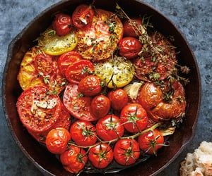 herb and roast tomato image