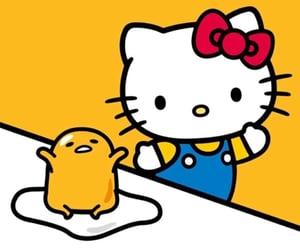 hello kitty, yellow, and gudetama image