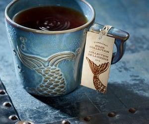 blue, fish, and tea image