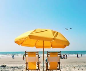 beach, summer, and yellow image