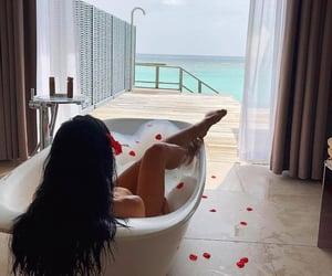 bath, fashion, and hair image