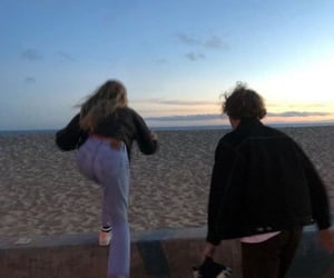 beach, couple, and Relationship image