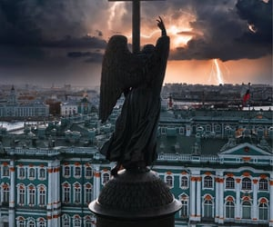 angel, architecture, and saint petersburg image
