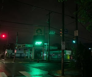 city, gasoline, and glow image
