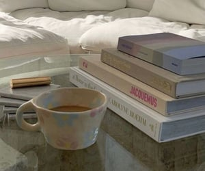 book, home, and morning image