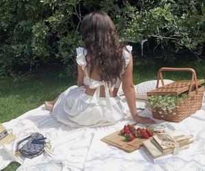 food, girl, and picnic image