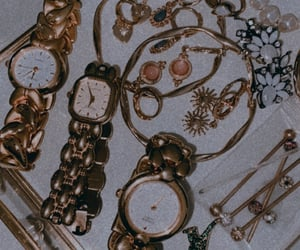 gold, jewellery, and vintage image