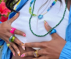 acrylics, colorful, and jacket image