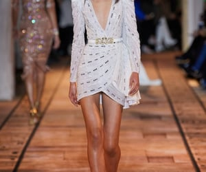 Couture, dress, and heels image