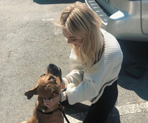 dog and emily alyn lind image