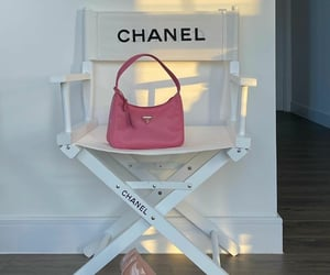 chair, girly, and pink image