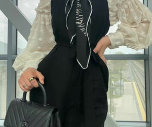beautiful, chanel bags, and headscarf image