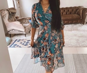 dresses, floral dress, and summer style image
