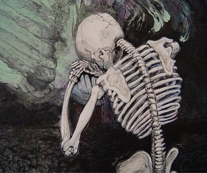 skeleton, art, and theme image