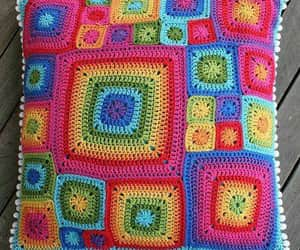 crochet, pillow, and crocheted image