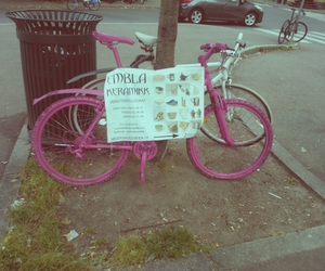 bike, photo, and pink image