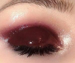 burgundy, eyes, and eyeshadow image