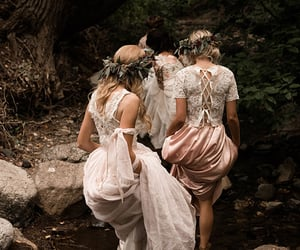 dress, aesthetic, and forest image