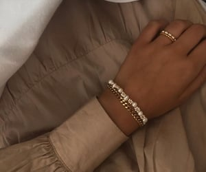 aesthetic, beige, and bracelet image