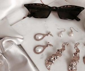 earring, fashion, and sun glass image