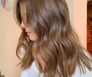 brunette, hair goals, and hair image