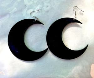 earrings, etsy, and goth image