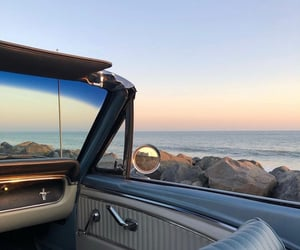aesthetics, beach, and car image