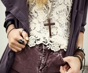 fashion, style, and cross image