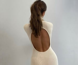 backless dress, turtleneck, and everyday look image