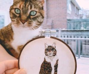 art, artist, and cat image