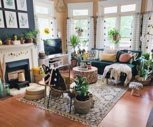 blankets, boho, and chair image