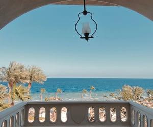 balcony, egypt, and nature image