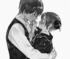 anime, animecouple, and cute image
