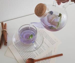 aesthetic, purple, and tea image