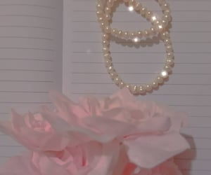 flower, glow, and pearls image