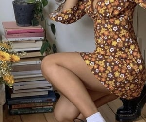 books, casual, and floral image