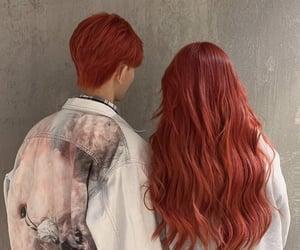 auburn, long hair, and orange hair image