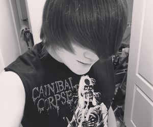 death metal, scene, and emo guy image