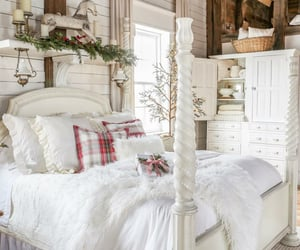 bedroom, interior design, and love deco image